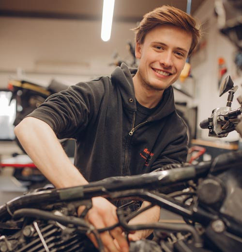 Motorradwartung und Motorradinspektion in Hilden bei Düsseldorf